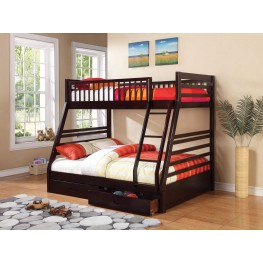 Cooper Cappuccino Twin Over Full Bunk Bed