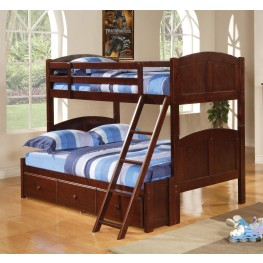 Parker Cappuccino Twin Over Twin Bunk Bed 460212