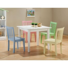 Multi Color 5 Pcs Table & Chair Set 460235