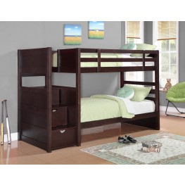 Parker Cappuccino Twin Over Twin Bunk Bed