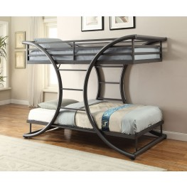 Stephan Gunmetal Twin and Twin Bunk Bed