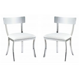 Maiden White Dining Chair Set of 2