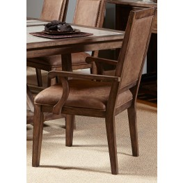 Stone Brook Rustic Saddle Upholstered Arm Chair