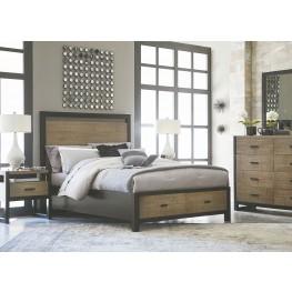 Helix Charcoal & Stone Panel Storage Bedroom Set