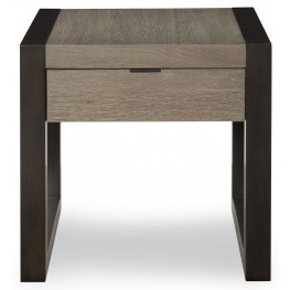Helix Charcoal & Stone Rectangular End Table