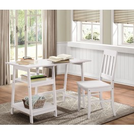 Daily White Writing Desk & Chair