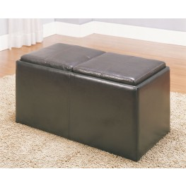 Claire Storage Bench with 2 Ottomans & Trays