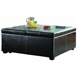 Synergy Lift Top Storage Cocktail Ottoman On Casters