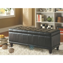 Afton Dark Brown Lift Top Storage Bench