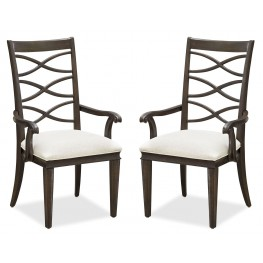 California Hollywood Hills X-Back Arm Chair Set of 2