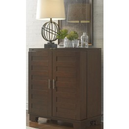 Pebble Creek II Weathered Tobacco Wine Cabinet