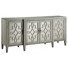 Mirror Facing Credenza in Grey