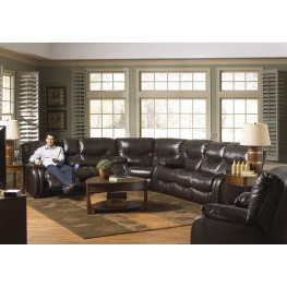 Arlington Mahogany Power Reclining Sectional