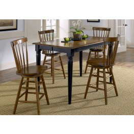 Creations II Black Extendable Gathering Table
