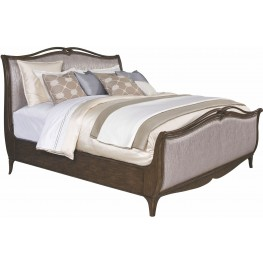Cashmera Rich Truffle Cal. King Upholstered Sleigh Bed