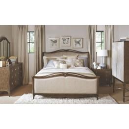 Cashmera Rich Truffle Upholstered Sleigh Bedroom Set