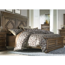 Amelia Antique Toffee Queen Panel Bed