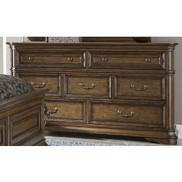 Amelia Antique Toffee 7 Drawer Dresser