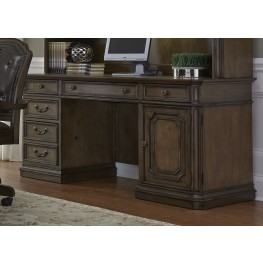 Amelia Antique Toffee Jr. Executive Credenza