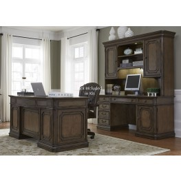 Amelia Antique Toffee Jr Executive Home Office Set