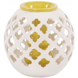 Ceramic Round White Lattice Vase