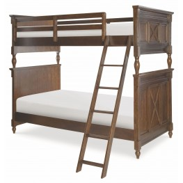 Big Sur Saddle Brown Twin over Twin Bixby Bunk Bed
