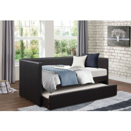 Adra Black Daybed with Trundle