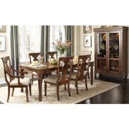 Rustic Tradition Rectangular Leg Extendable Dining Room Set