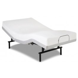 Vibrance White Twin Xl Adjustable Bed