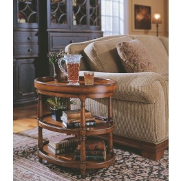 Medium Wood Oval Accent Table