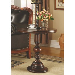 Cherry 24'' Round Pedestal Accent Table