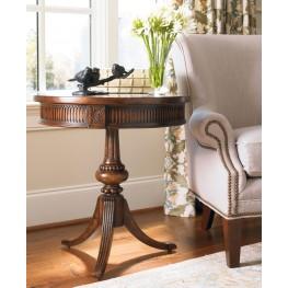 Medium Wood Round Pedestal Accent Table