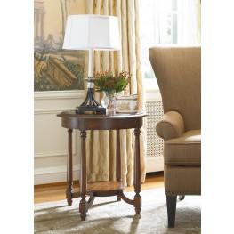 Medium Wood Round Accent Table