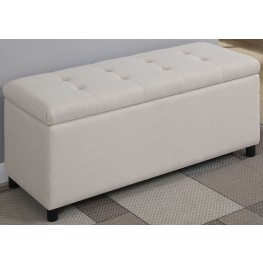 Beige Storage Bench