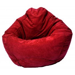 Big Joe Sierra Red Comfort Suede The Big Bag
