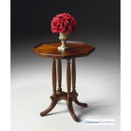 Plantation Cherry Octagon Accent Table