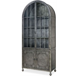 Remix Antiqued Iron Metal Display Cabinet