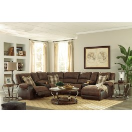 Nantahala Coffee Reclining Sectional