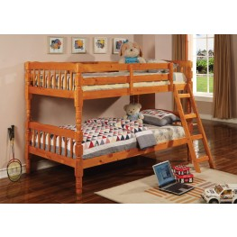Corinth Warm Pine Twin Over Twin Bunk Bed 5040