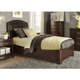 Avalon Truffle Twin Leather Bed