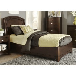 Avalon Truffle Twin Platform Bed