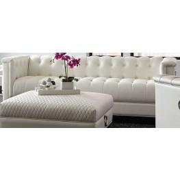 Chaviano Pearl White Tufted Sofa