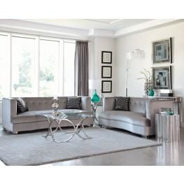 Caldwell Silver Living Room Set
