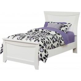 Vogue Glossy White Full Panel Bed
