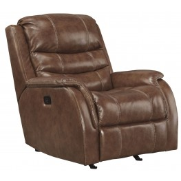 Metcalf Nutmeg Power Rocker Recliner With Adjustable Headrest