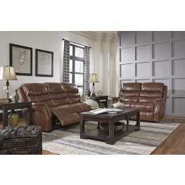 Metcalf Nutmeg Power Reclining Living Room Set