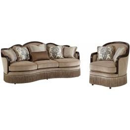 Giovanna Azure Upholstered Living Room Set