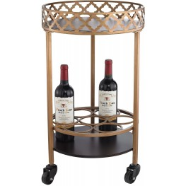 Bar Cart Circular Quatrefoil
