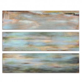 Horizon View Hand Painted Panel Set of 3