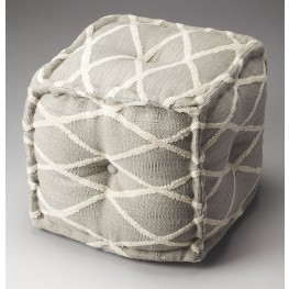 Berkeley Grey Crisscross Pouffe